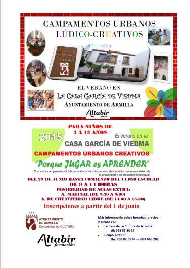 Campamentos en Casa García de Viedma en Armilla