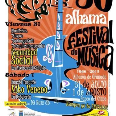 50ª edición del Festival de Música de Alhama de Granada.