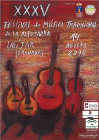 Cartel XXXV Festival Música Tradicional Alpujarra 2016