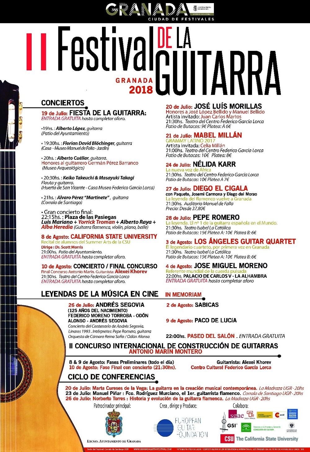 PROGRAMA FESTIVAL DE GUITARRA